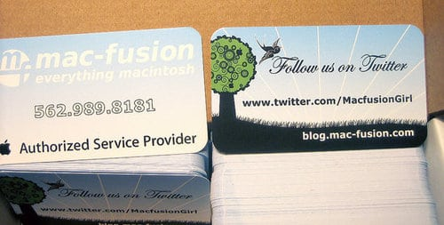 Twitter business cards, on the cheep (cheep, get it?).