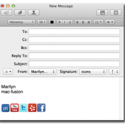 Clickable social media icons in your Mail.app signature