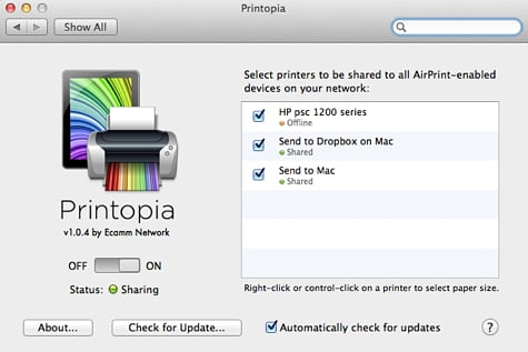 Printing From iOS Without An AirPrint Printer