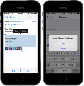 Clickable Social Media Links In Your iPhone Signature