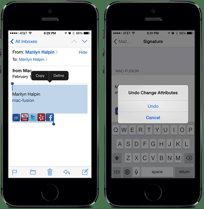Clickable Social Media Links In Your iPhone Signature | mac