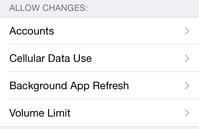 Parental Restrictions In iOS 7 – Part 4 (Allow Changes And Game Center)