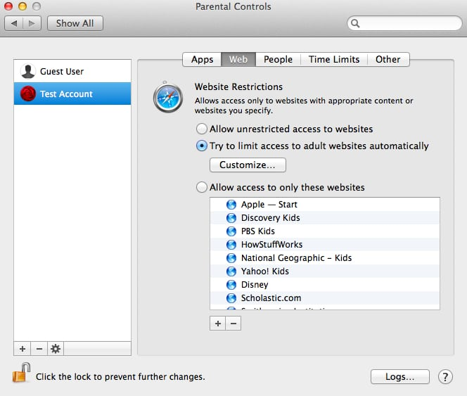 Parental Controls In OS X – Part 2