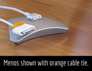 Menos shown with orange cable tie.