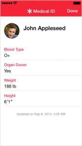 Use Medical ID on your iPhone or iPod touch with iOS 8