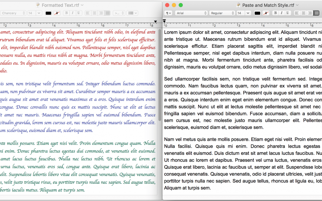 Tips & Tricks: Paste without Formatting on the Mac